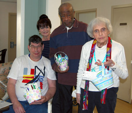 McPeak's Assisted Living Residents Participate in Annual Egg Roll Contest and Egg Coloring Activity