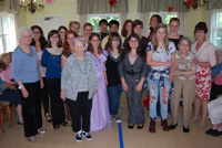 Patchogue-Medford High School Key Club Members Strike a Pose at McPeak's Assisted Living